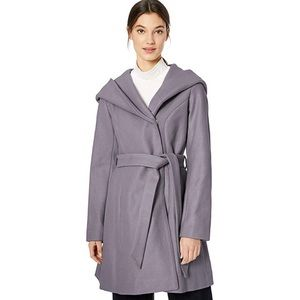 Jessica Simpson Hooded Wrap Coat Winter Jacket